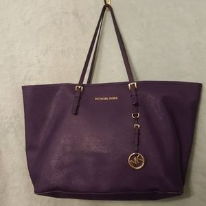 Michael Kors Tote Bag Purse Shoulder Bag Purple